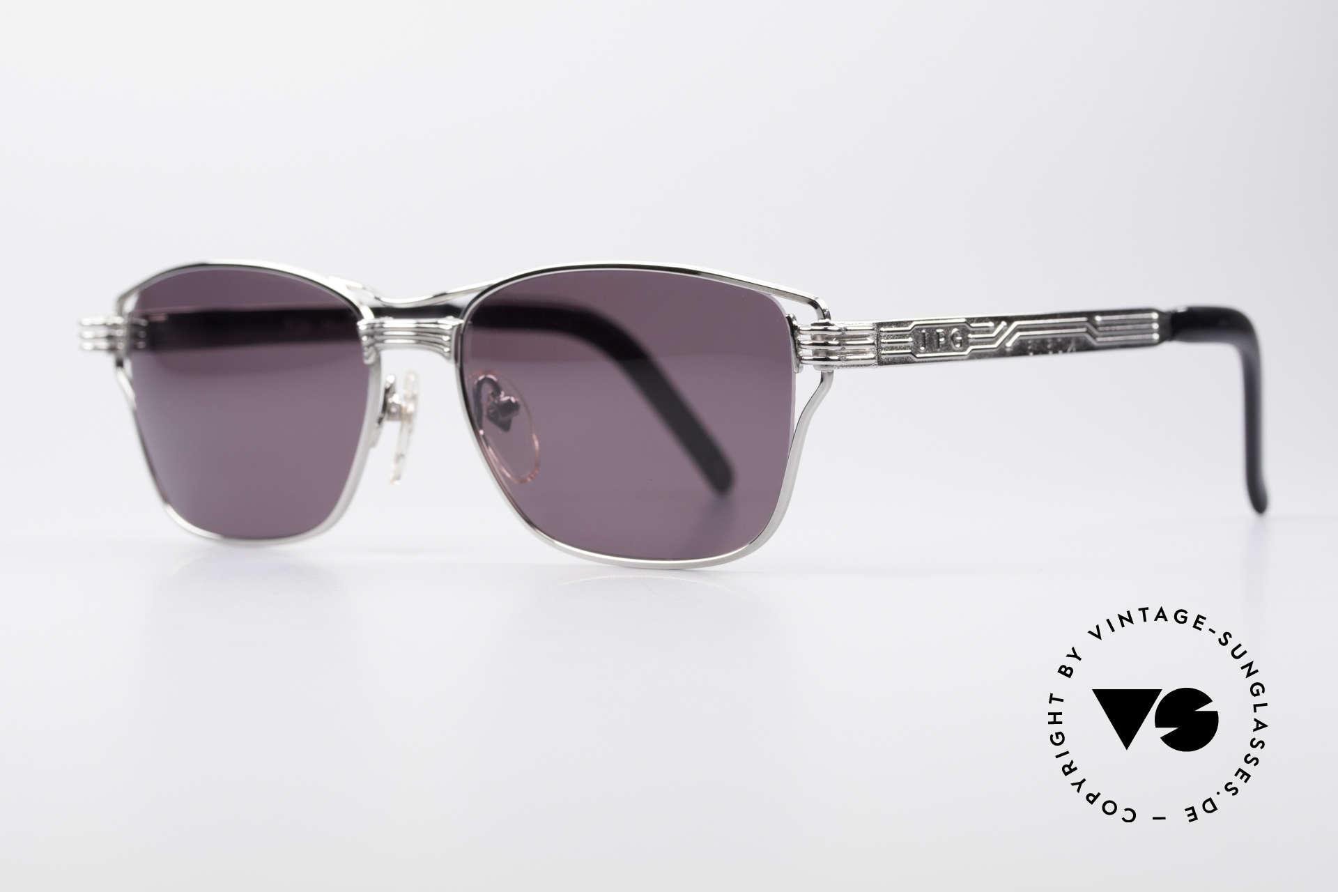 Jean Paul Gaultier 56-4173 Markante Eckige Sonnenbrille, Metall-Fassung mit vielen aufwendigen Details, Passend für Herren