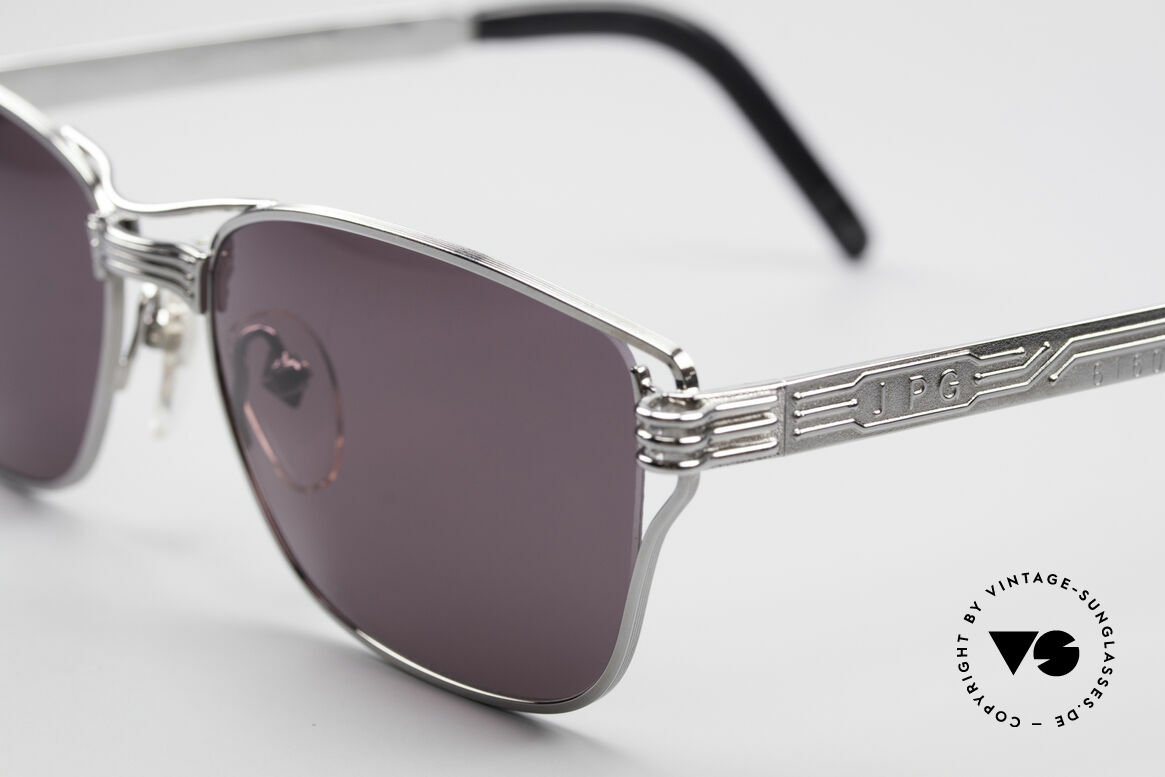 Jean Paul Gaultier 56-4173 Markante Eckige Sonnenbrille, herausragende Spitzenqualität; made in JAPAN, Passend für Herren