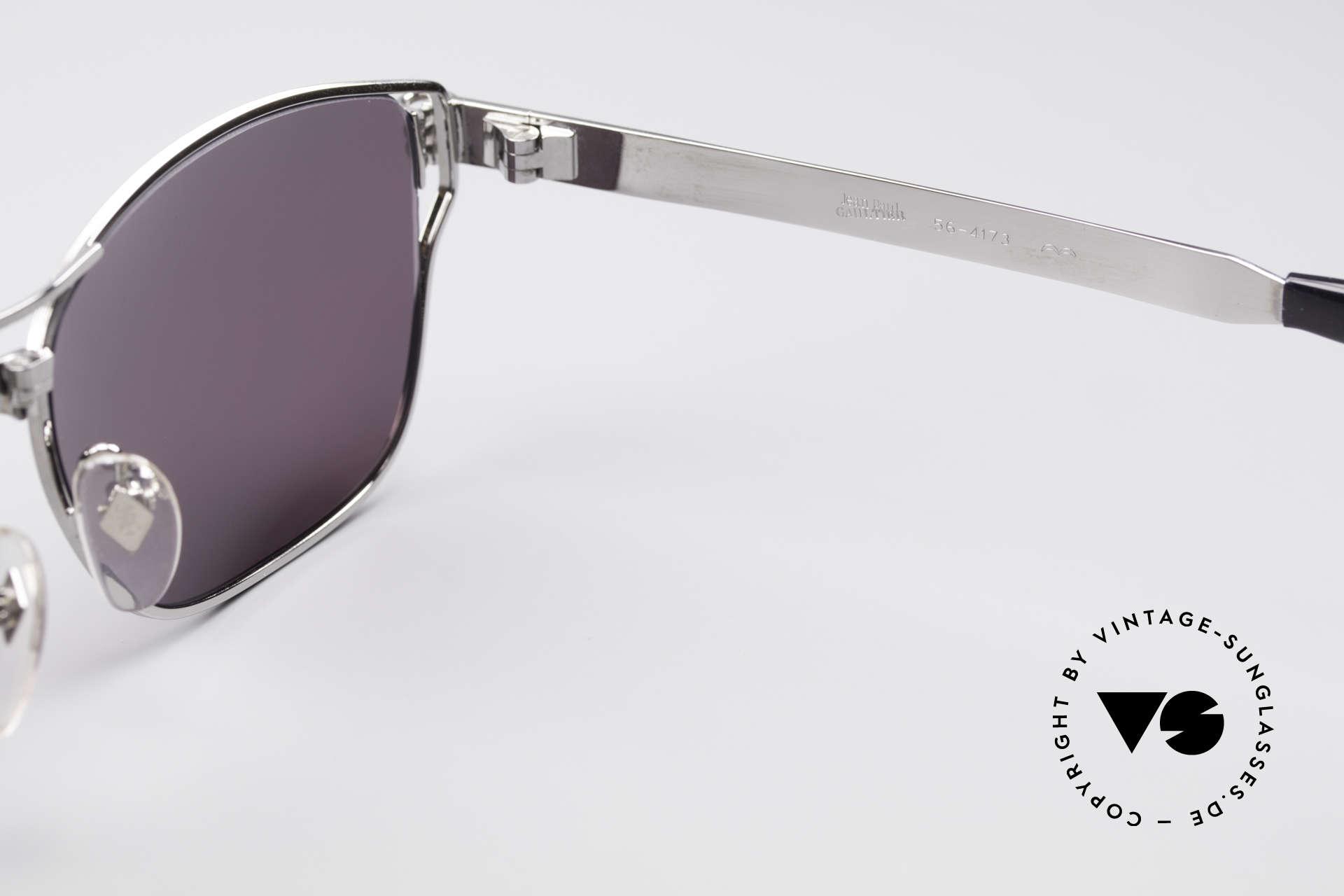 Jean Paul Gaultier 56-4173 Markante Eckige Sonnenbrille, Größe: large, Passend für Herren
