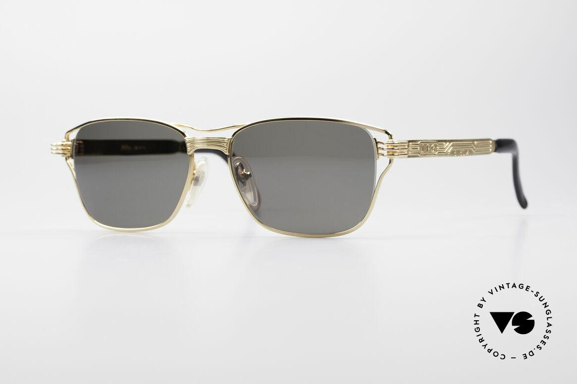 Jean Paul Gaultier 56-4173 Eckige Designer Sonnenbrille, eckige, markante Gaultier Designersonnenbrille, Passend für Herren