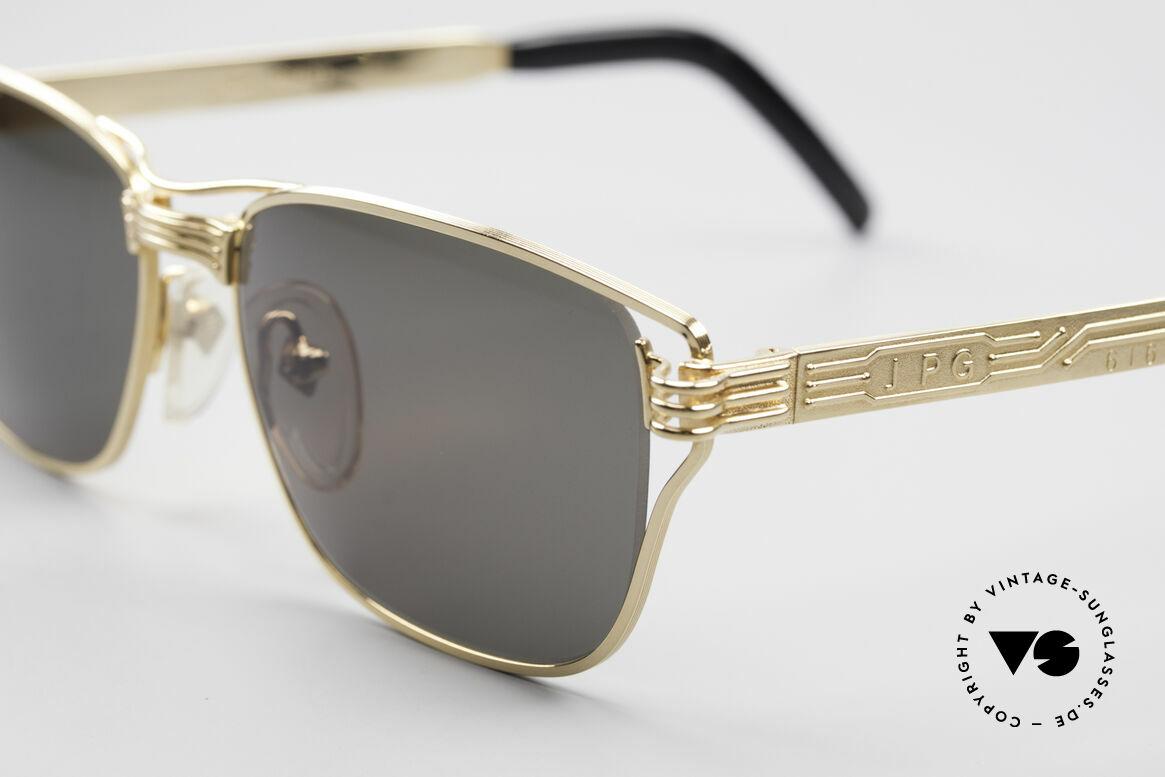 Jean Paul Gaultier 56-4173 Eckige Designer Sonnenbrille, herausragende Spitzenqualität; made in JAPAN, Passend für Herren