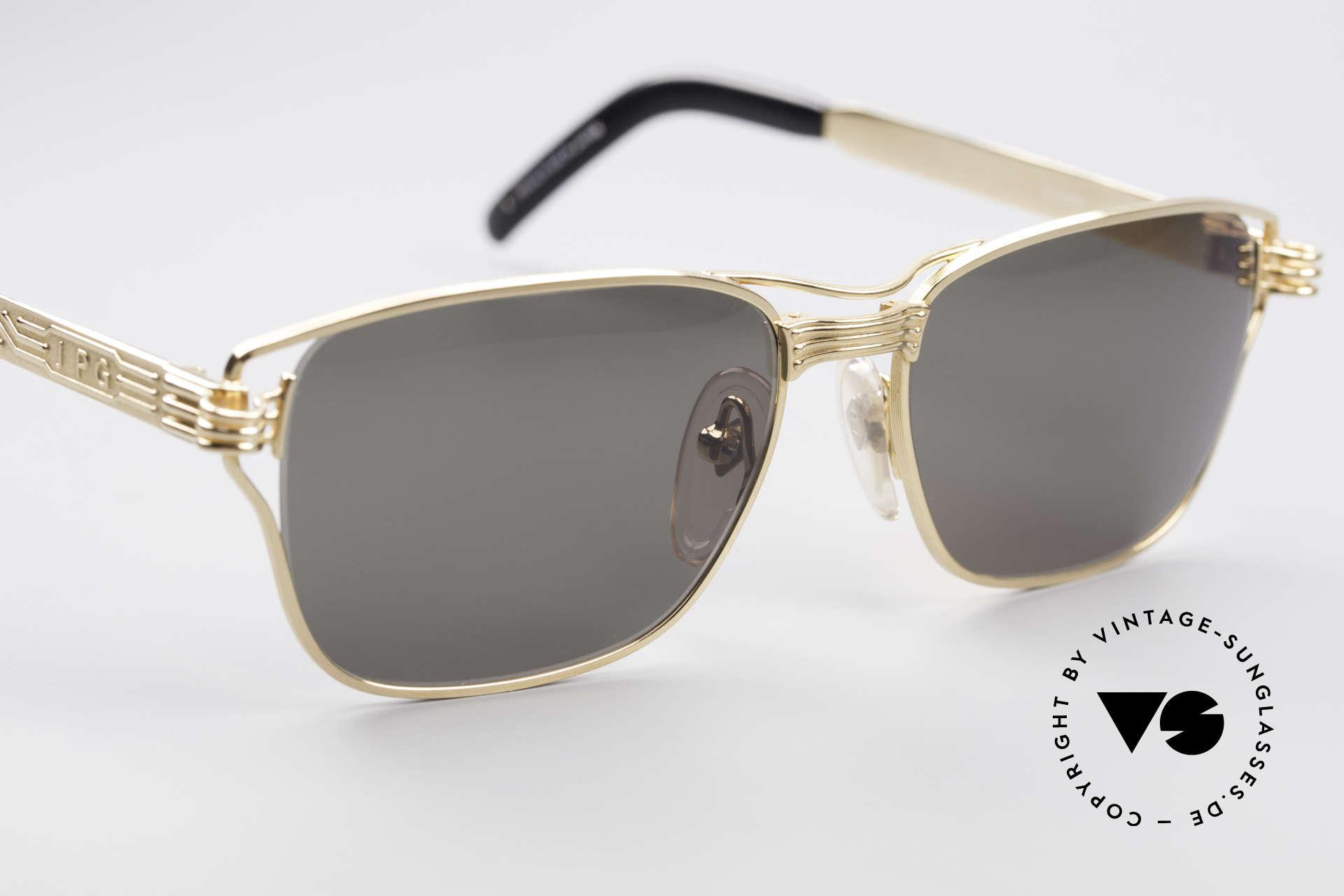 Jean Paul Gaultier 56-4173 Eckige Designer Sonnenbrille, ungetragen (wie jede alte JPG Sonnenbrille hier), Passend für Herren