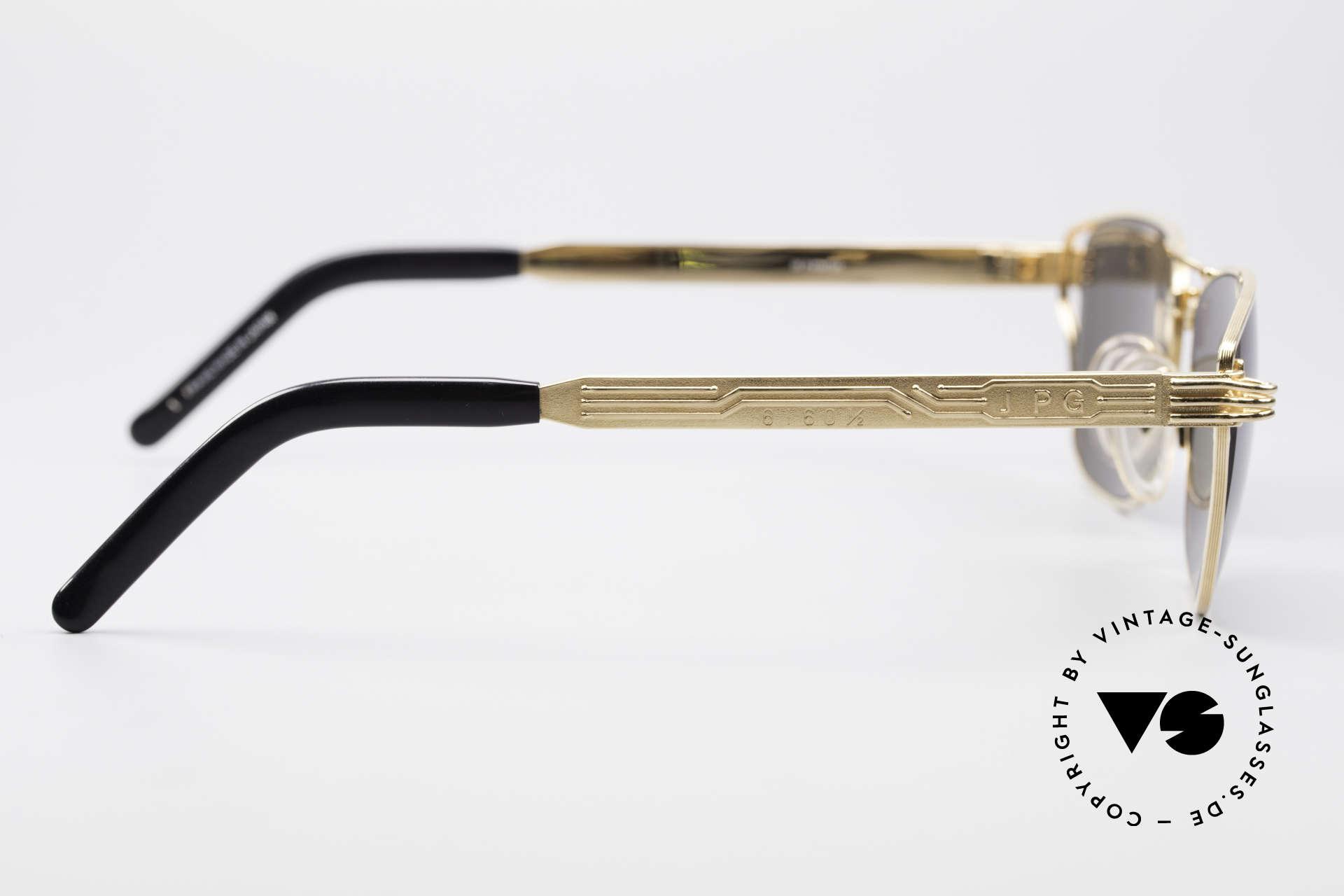 Jean Paul Gaultier 56-4173 Eckige Designer Sonnenbrille, Keine Retrobrille, sondern ein Original von 1995, Passend für Herren