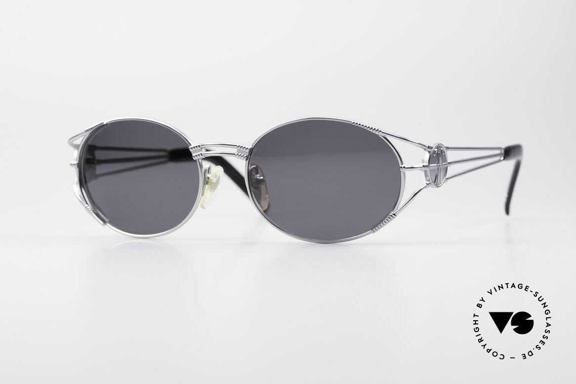Jean Paul Gaultier 58-5106 Ovale Steampunk JPG Brille, hochwertiges & kreatives Jean Paul Gaultier Design, Passend für Herren und Damen