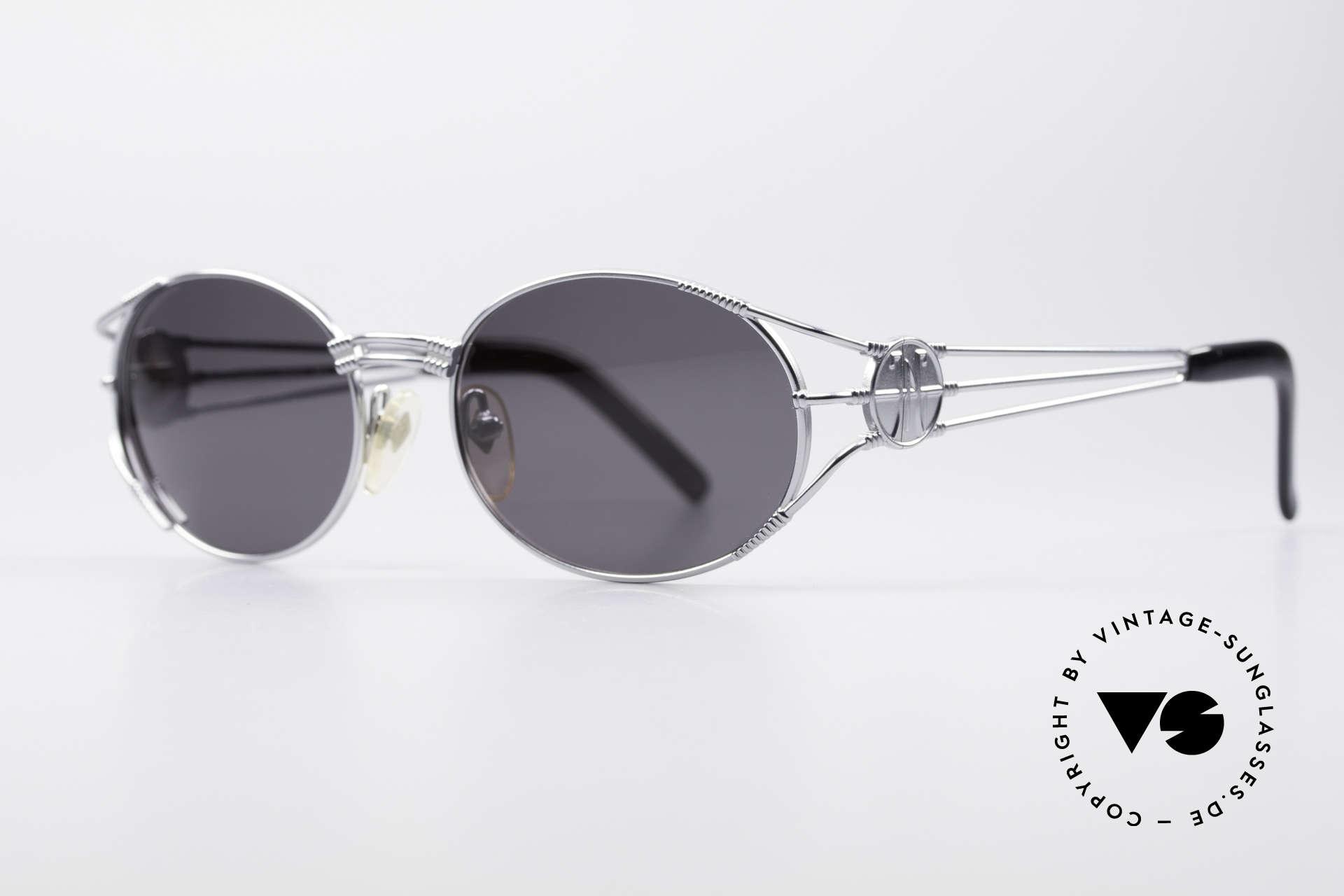 """Jean Paul Gaultier 58-5106 Ovale Steampunk JPG Brille, heutzutage oft als """"STEAMPUNK-Brille"""" bezeichnet, Passend für Herren und Damen"""