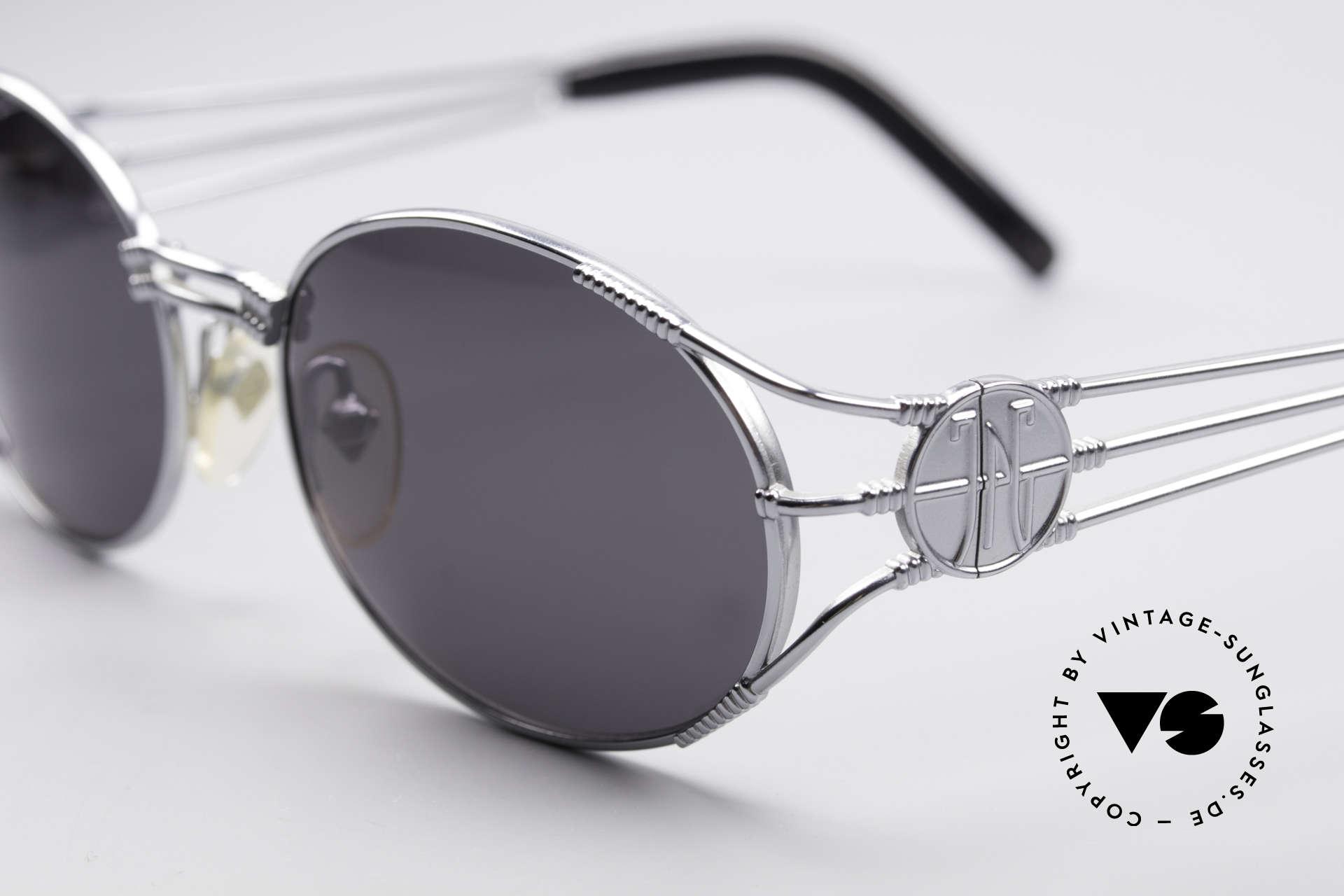 Jean Paul Gaultier 58-5106 Ovale Steampunk JPG Brille, absolute vintage Rarität in fühlbarem Top-Zustand, Passend für Herren und Damen