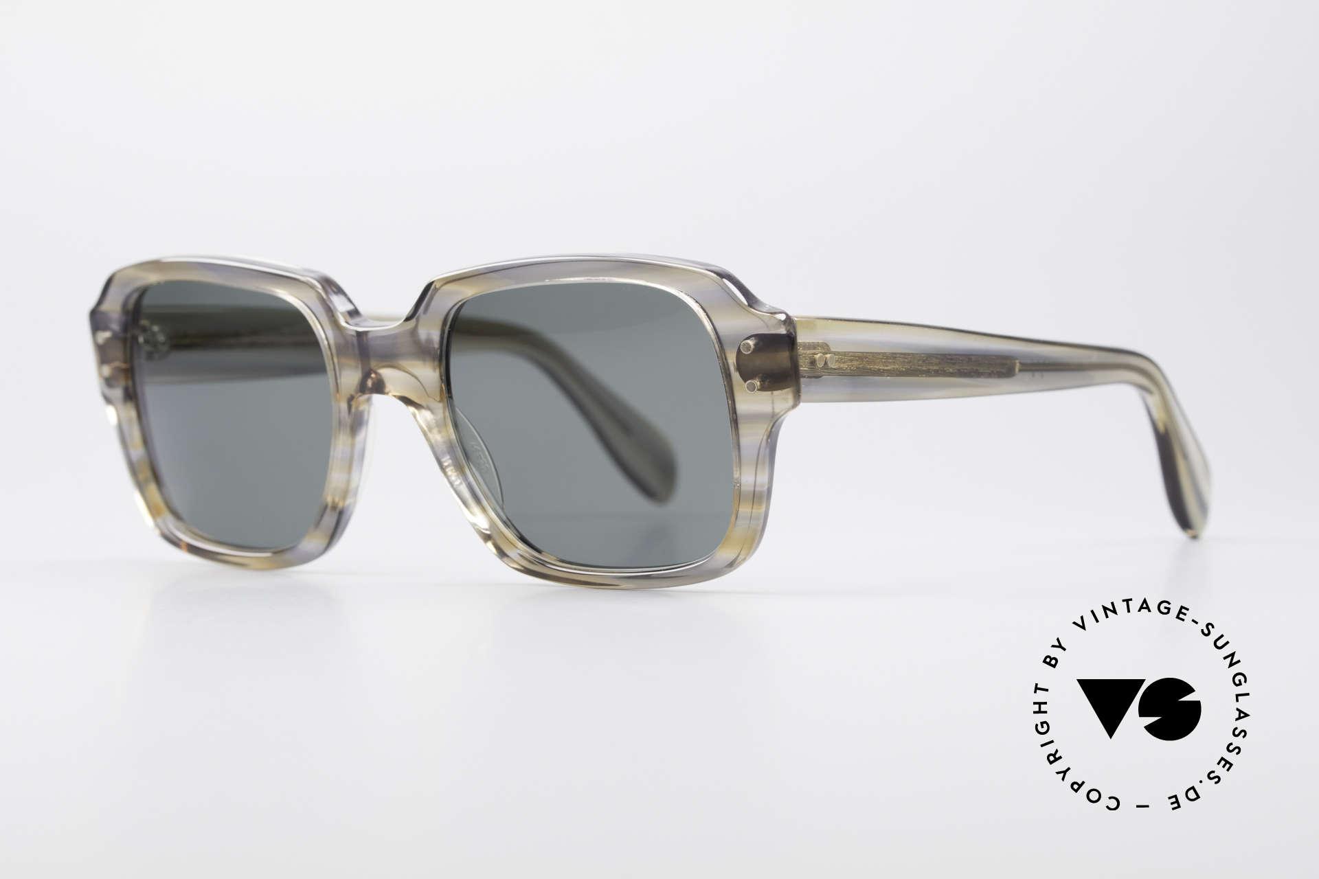 Metzler 448 Kleine 70er Sonnenbrille, enorm stabiler, massiver Rahmen; KLEINE-Gr. 46-20, Passend für Herren