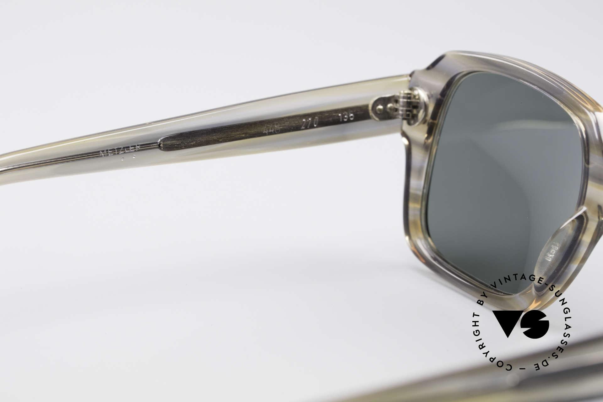 Metzler 448 Kleine 70er Sonnenbrille, Fassung ist natürlich für Gläser jeglicher Art gemacht, Passend für Herren