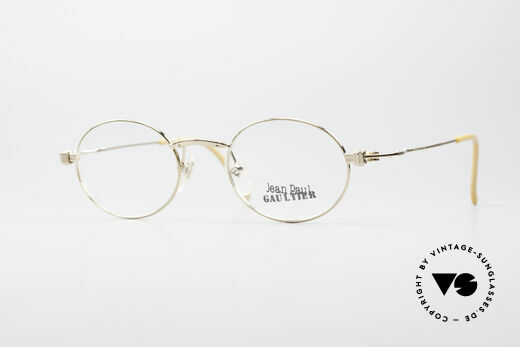 Jean Paul Gaultier 55-6105 Ovale Vintage Brille Gold Details