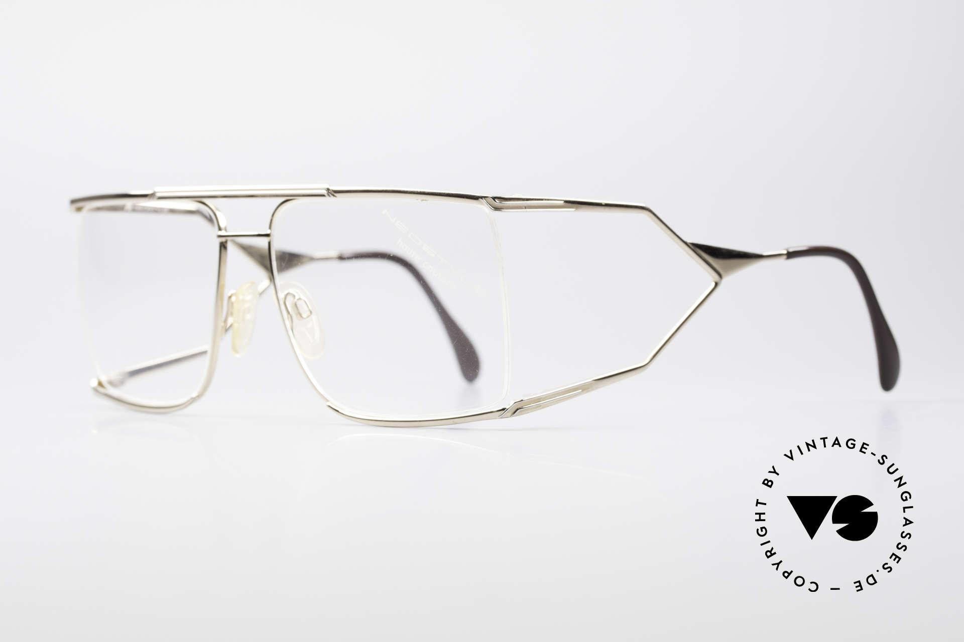 Neostyle Nautic 6 Miami Vice Vintage Brille, getragen von JOSEPH TURKEL in Miami Vice, 1988, Passend für Herren
