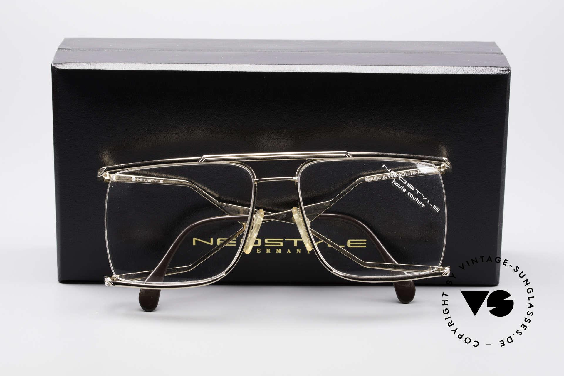 Neostyle Nautic 6 Miami Vice Vintage Brille, sehr selten, wahrscheinlich eines d. letzten Exemplare, Passend für Herren