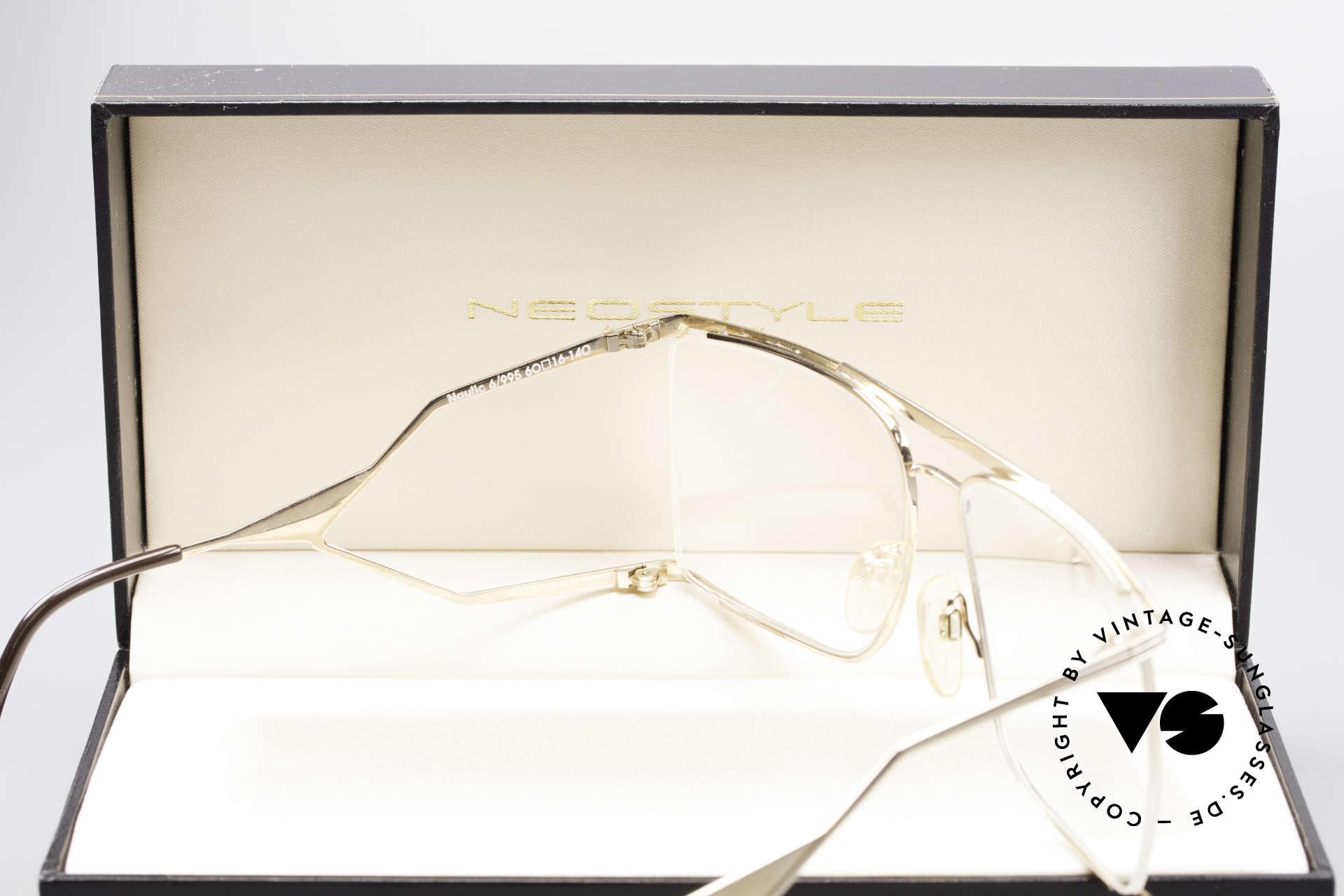 Neostyle Nautic 6 Miami Vice Vintage Brille, ungetragenes Einzelstück (mit original Neostyle Box), Passend für Herren