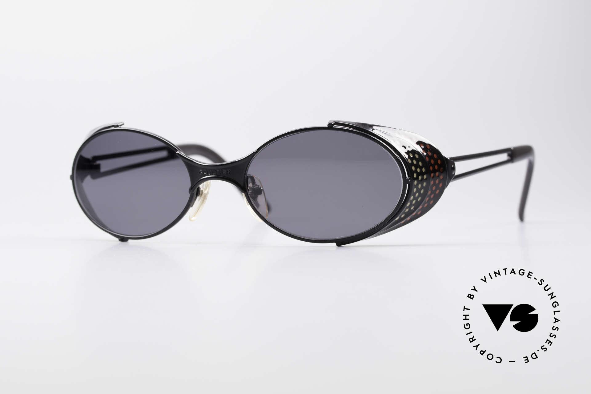Jean Paul Gaultier 56-7109 JPG Steampunk Sonnenbrille, vintage GAULTIER Sonnenbrille aus den frühen 90ern, Passend für Herren und Damen