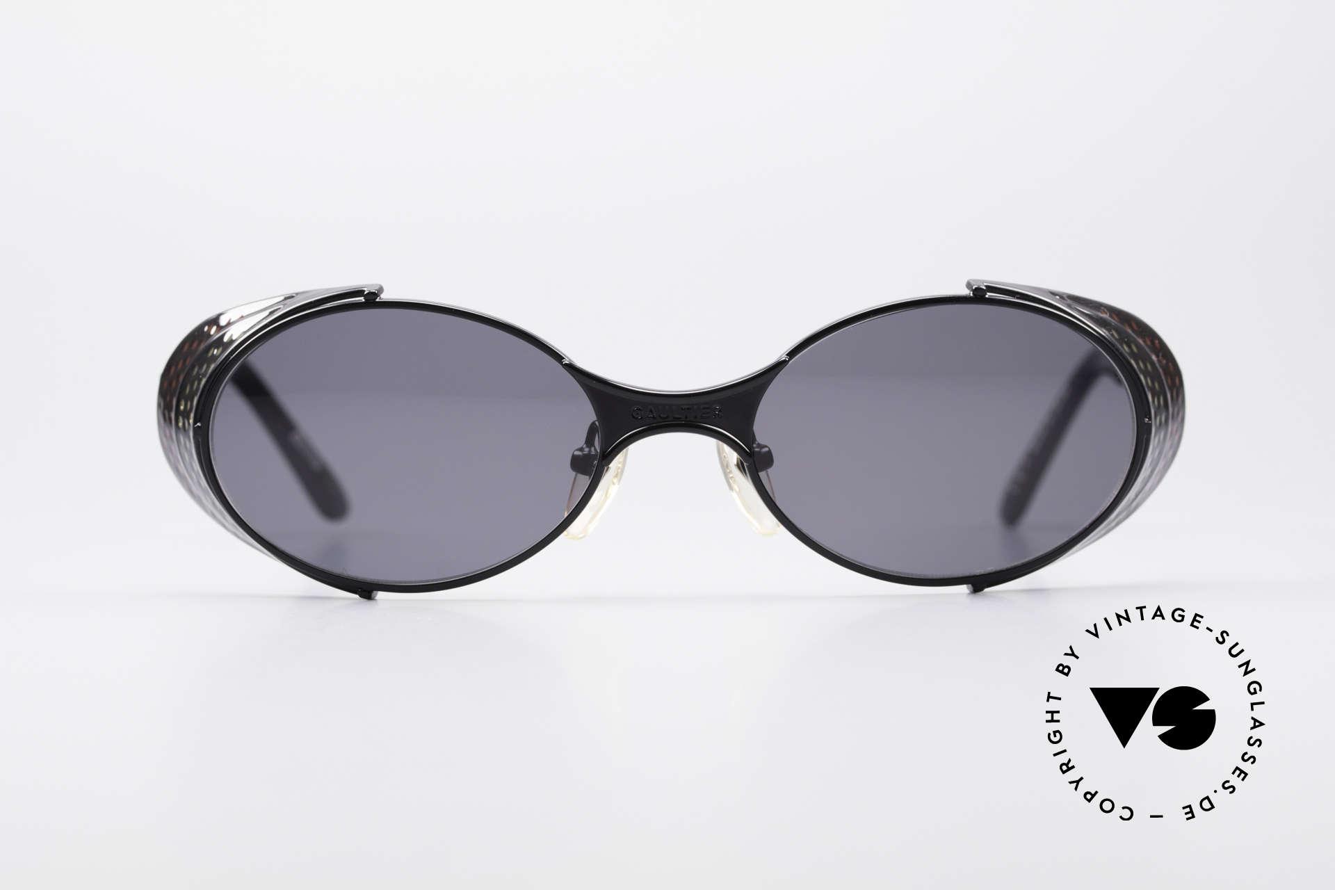 Jean Paul Gaultier 56-7109 JPG Steampunk Sonnenbrille, 'Steampunk-Sonnenbrille' des exzentrischen Designers, Passend für Herren und Damen