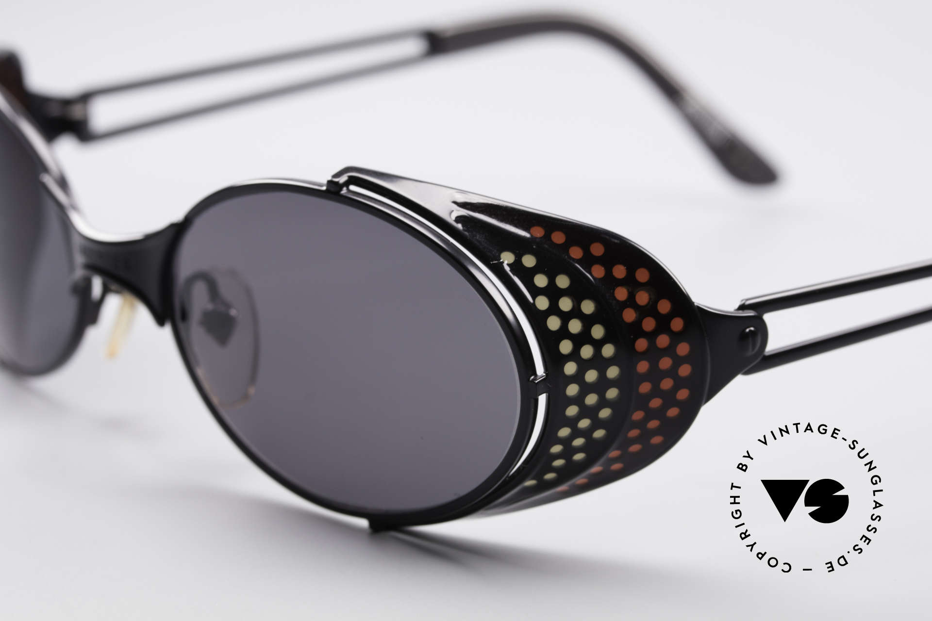 Jean Paul Gaultier 56-7109 JPG Steampunk Sonnenbrille, also einer Sicht auf die Zukunft, aus einer früheren Zeit, Passend für Herren und Damen