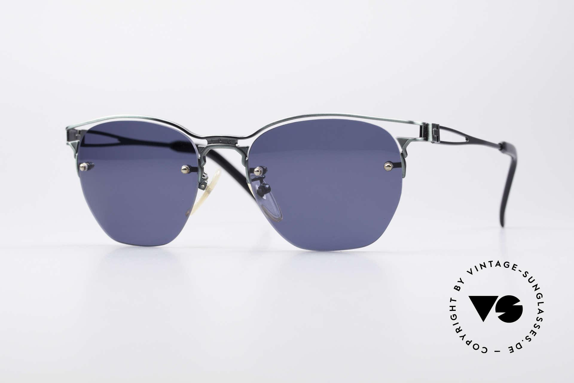 Jean Paul Gaultier 56-2173 Echt Vintage No Retro Brille, außergewöhnliche JPG Designersonnenbrille, Passend für Herren und Damen