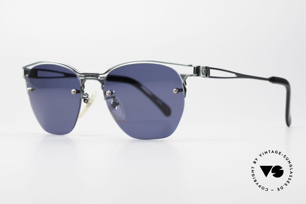 Jean Paul Gaultier 56-2173 Echt Vintage No Retro Brille, Sonnengläser (100% UV) sind randlos gefasst, Passend für Herren und Damen