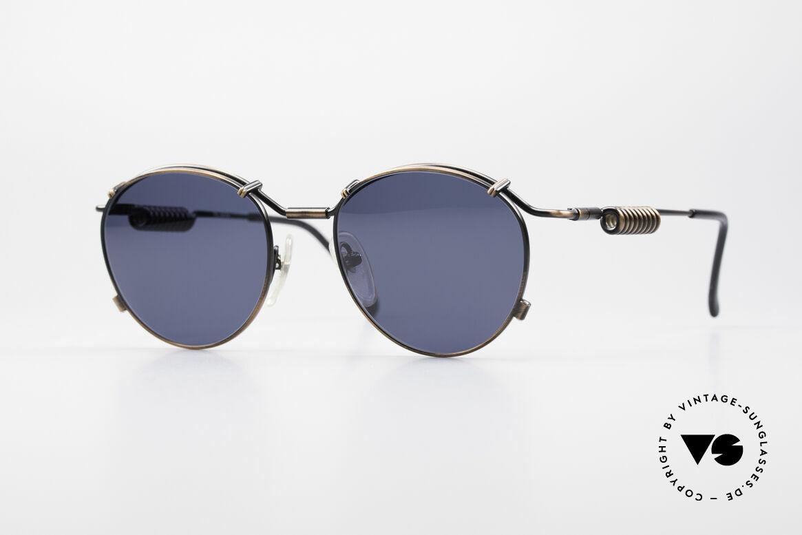 Jean Paul Gaultier 56-9174 90er Industrial Sonnenbrille, Gaultier vintage Designersonnenbrille von 1993, Passend für Herren und Damen