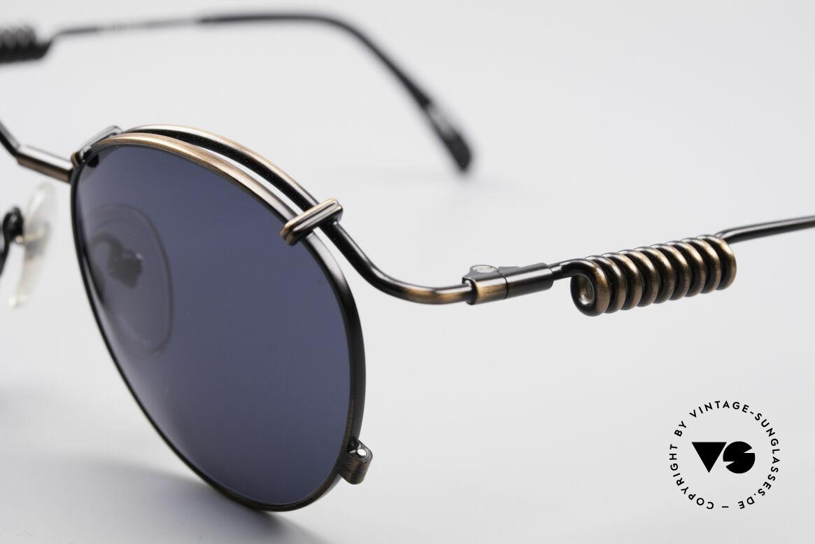 Jean Paul Gaultier 56-9174 90er Industrial Sonnenbrille, zudem sehr elegante Lackierung in 'smoke bronze', Passend für Herren und Damen