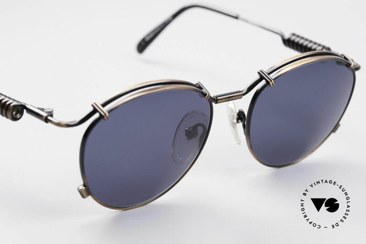 Jean Paul Gaultier 56-9174 90er Industrial Sonnenbrille, ungetragen; wie alle unsere alten Gaultier Brillen, Passend für Herren und Damen