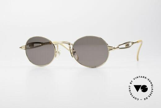 Jean Paul Gaultier 56-7108 Vergoldete Ovale Sonnenbrille Details