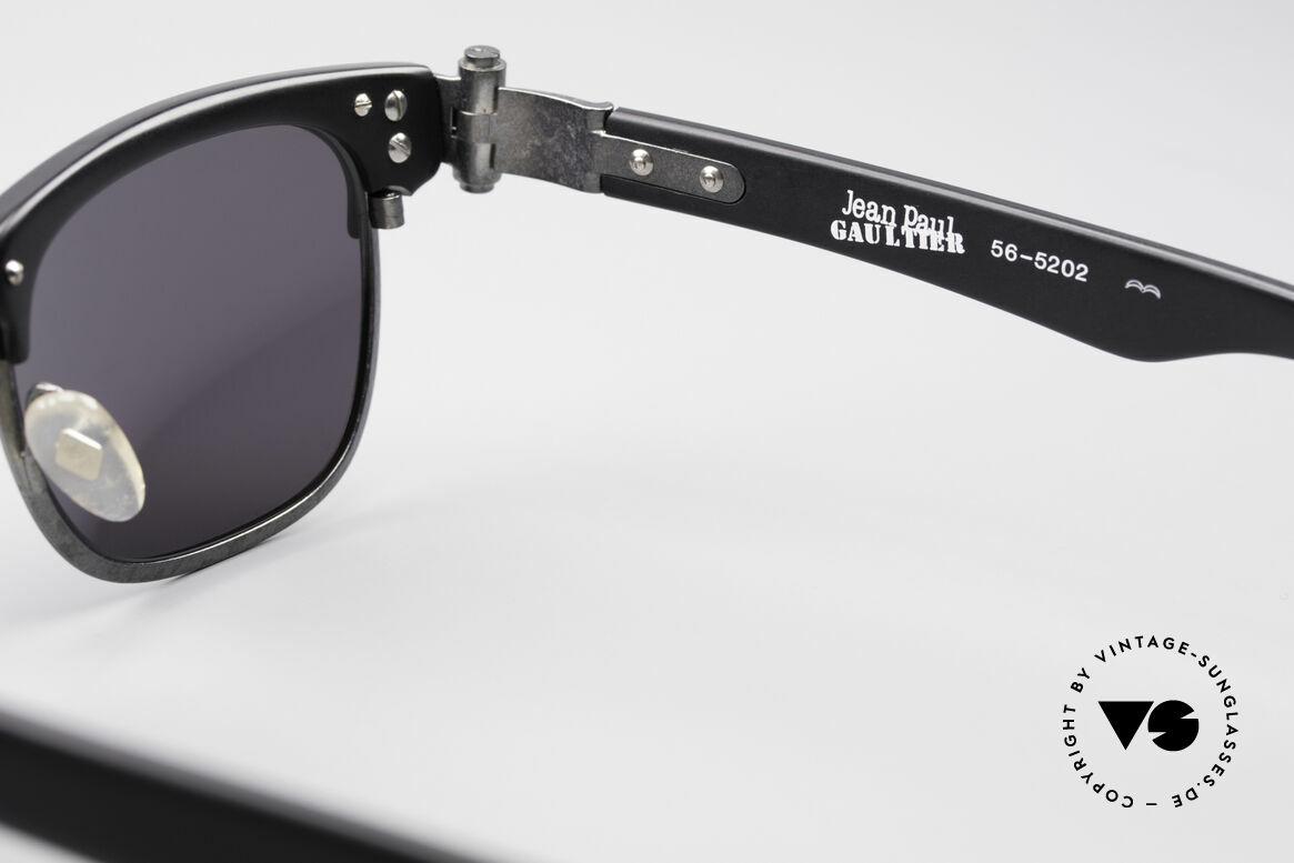 Jean Paul Gaultier 56-5202 90er Designer Sonnenbrille, Größe: medium, Passend für Herren und Damen