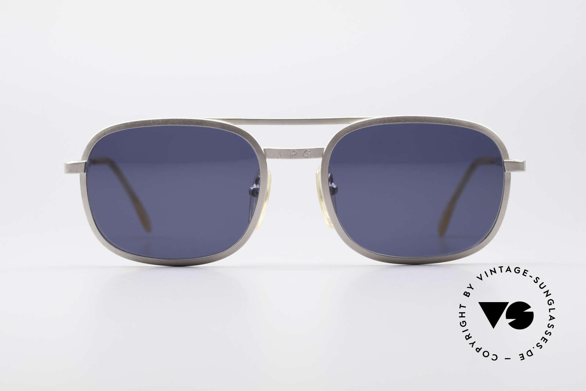 Jean Paul Gaultier 56-1172 Klassische 90er Sonnenbrille, klassisches Design mit JPG-Logo auf Brücke & Bügeln, Passend für Herren