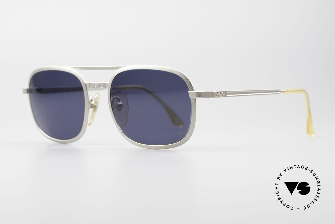Jean Paul Gaultier 56-1172 Klassische 90er Sonnenbrille, flexible Federscharniere für eine optimale Passform, Passend für Herren