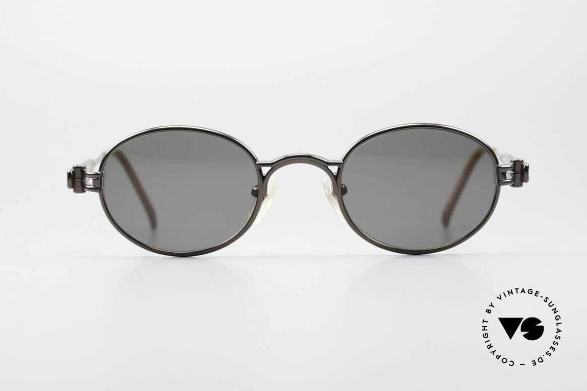 Jean Paul Gaultier 56-7113 Ovale JPG Designer Brille, originelle Bügel (typisch außergewöhnlich GAULTIER), Passend für Herren und Damen