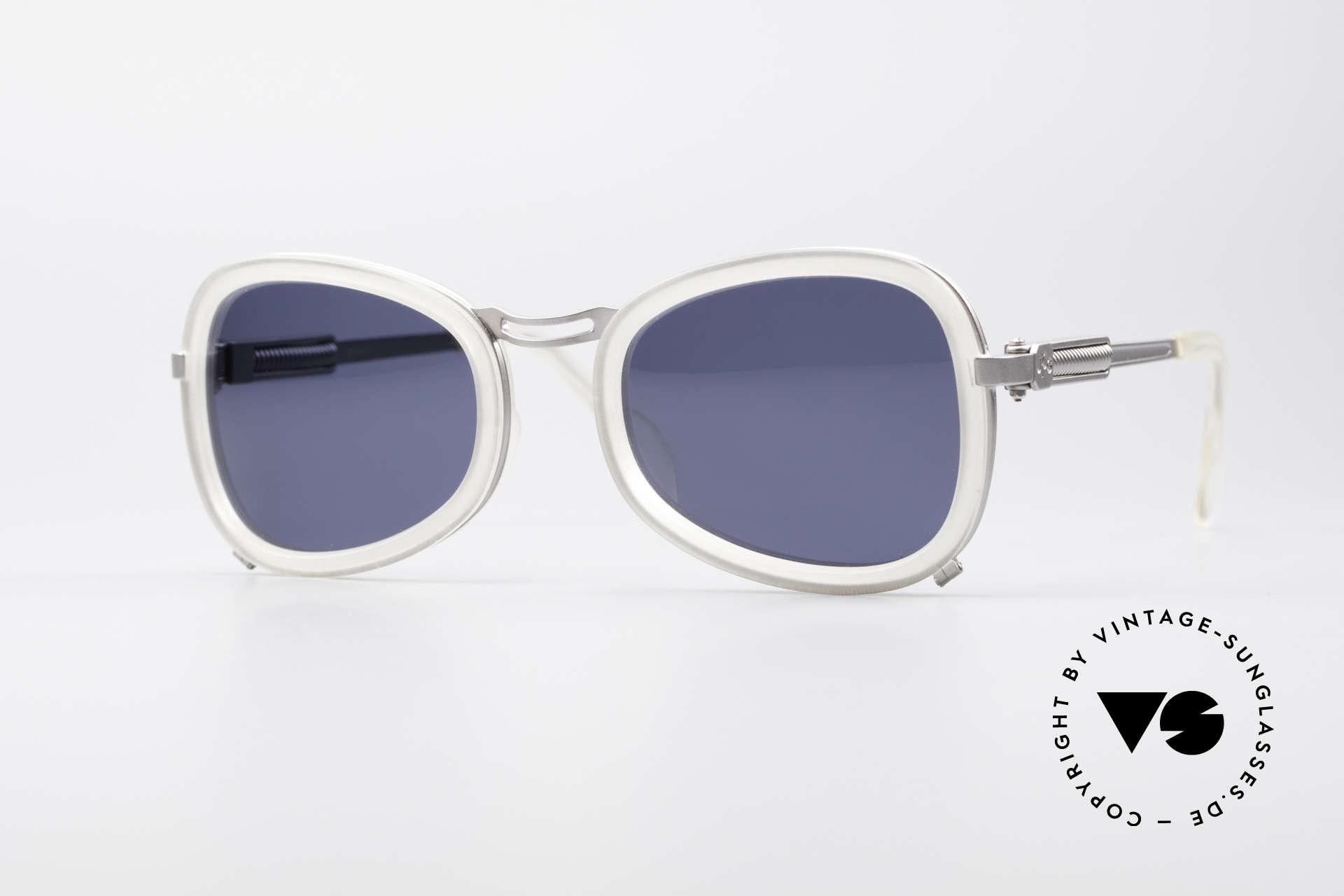 Jean Paul Gaultier 56-1271 90er Steampunk Sonnenbrille, massive Jean P. Gaultier vintage DesignerSonnenbrille, Passend für Herren und Damen