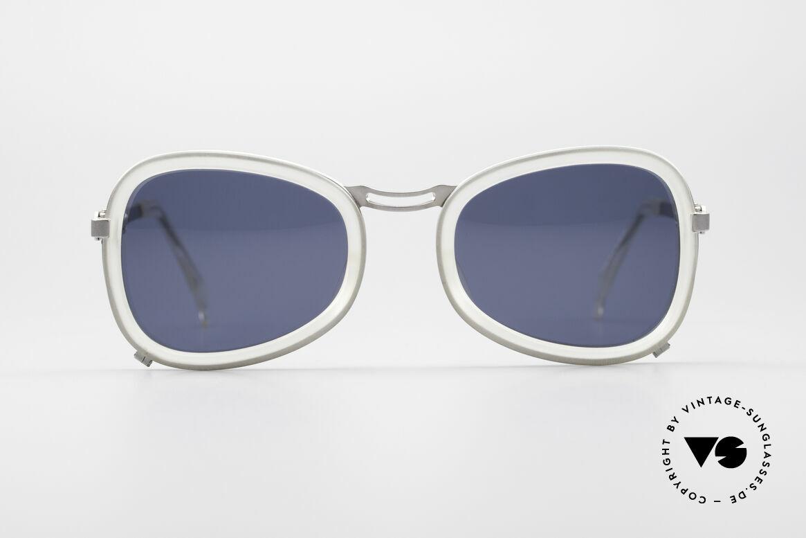 Jean Paul Gaultier 56-1271 90er Steampunk Sonnenbrille, absolute Top-Qualität der Materialien & Verarbeitung, Passend für Herren und Damen