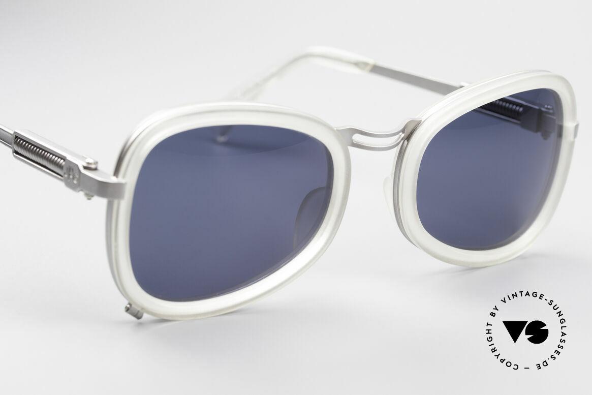 Jean Paul Gaultier 56-1271 90er Steampunk Sonnenbrille, nie getragen (wie alle unsere alten JPG Sonnenbrillen), Passend für Herren und Damen