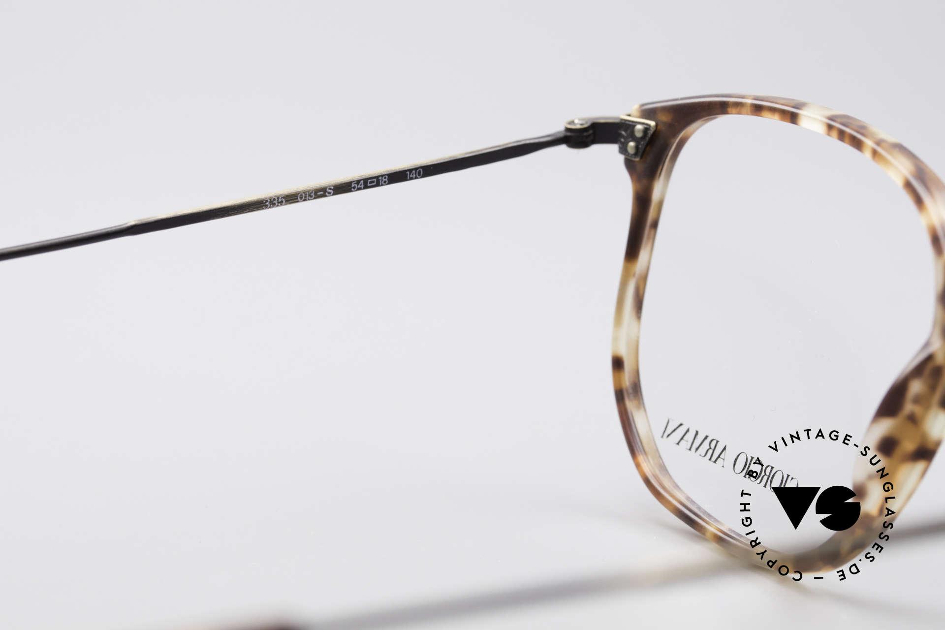 Giorgio Armani 335 Echte Vintage Unisex Brille, KEINE Retromode, sondern ein altes 80er ORIGINAL!, Passend für Herren und Damen