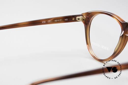 Giorgio Armani 418 ErdbeerForm Vintage Brille, KEINE Retromode, sondern ein altes 80er ORIGINAL!, Passend für Herren und Damen