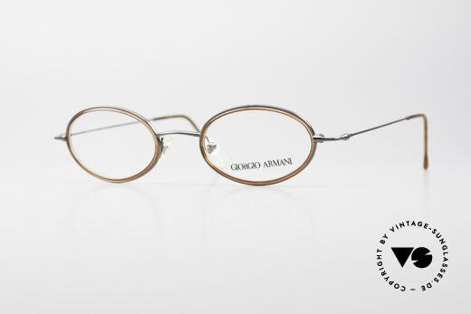 Giorgio Armani 1012 Ovale Vintage Unisex Brille Details