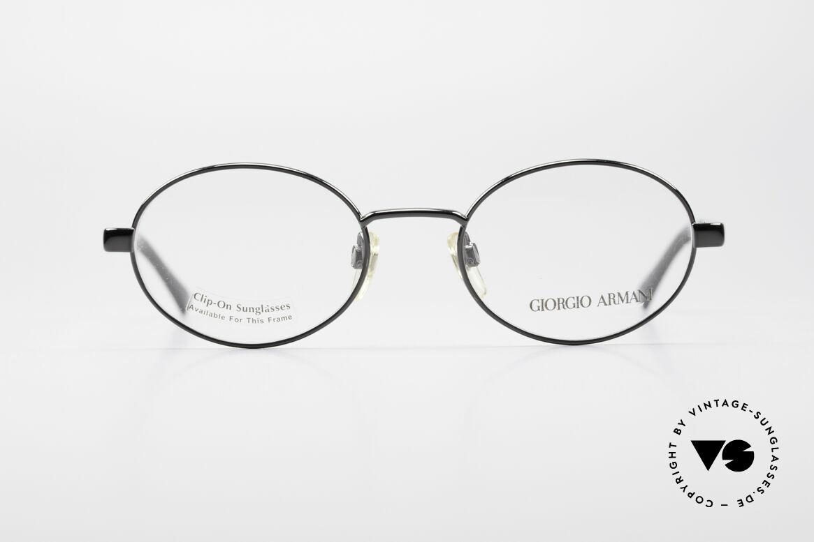Giorgio Armani 257 Ovale Vintage Fassung 90er, dezenter, zeitloser Stil; passt gut zu fast jedem Look, Passend für Herren und Damen