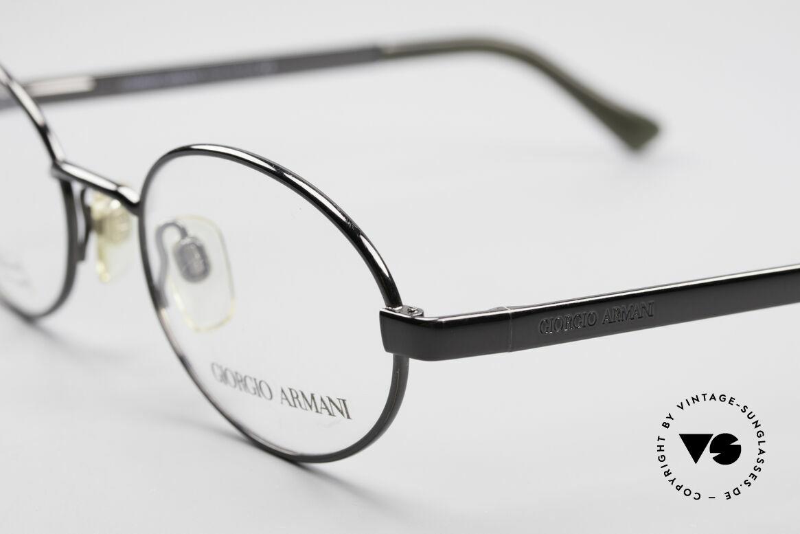 Giorgio Armani 257 Ovale Vintage Fassung 90er, ungetragen (wie alle unsere 90er GA Brillenklassiker), Passend für Herren und Damen