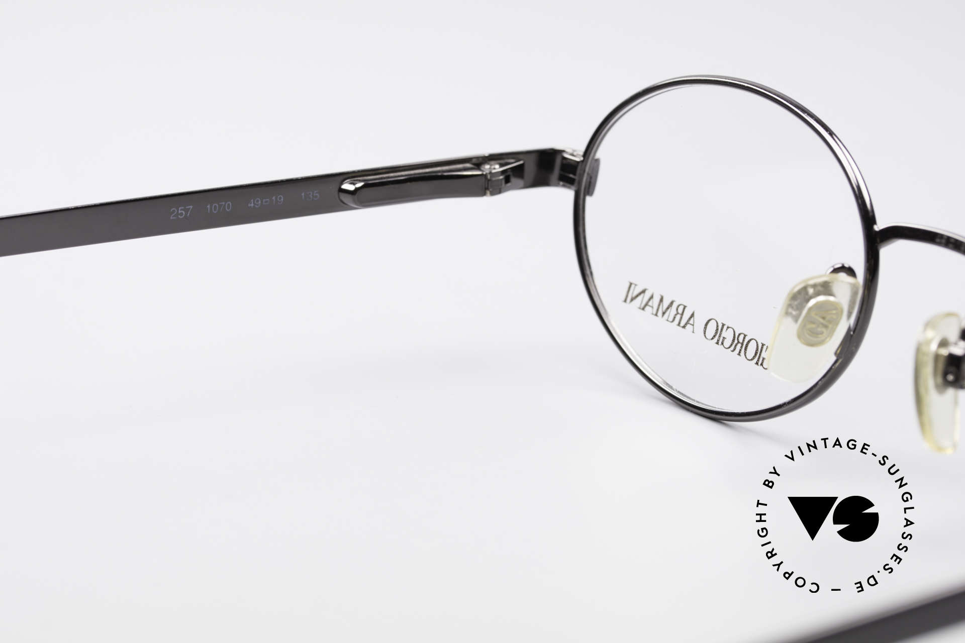 Giorgio Armani 257 Ovale Vintage Fassung 90er, Fassung ist beliebig verglasbar (optisch oder Sonne), Passend für Herren und Damen