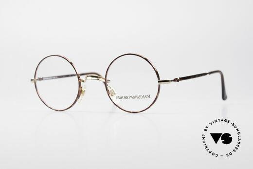Giorgio Armani EA013 Kleine Rund Vintage Brille Details