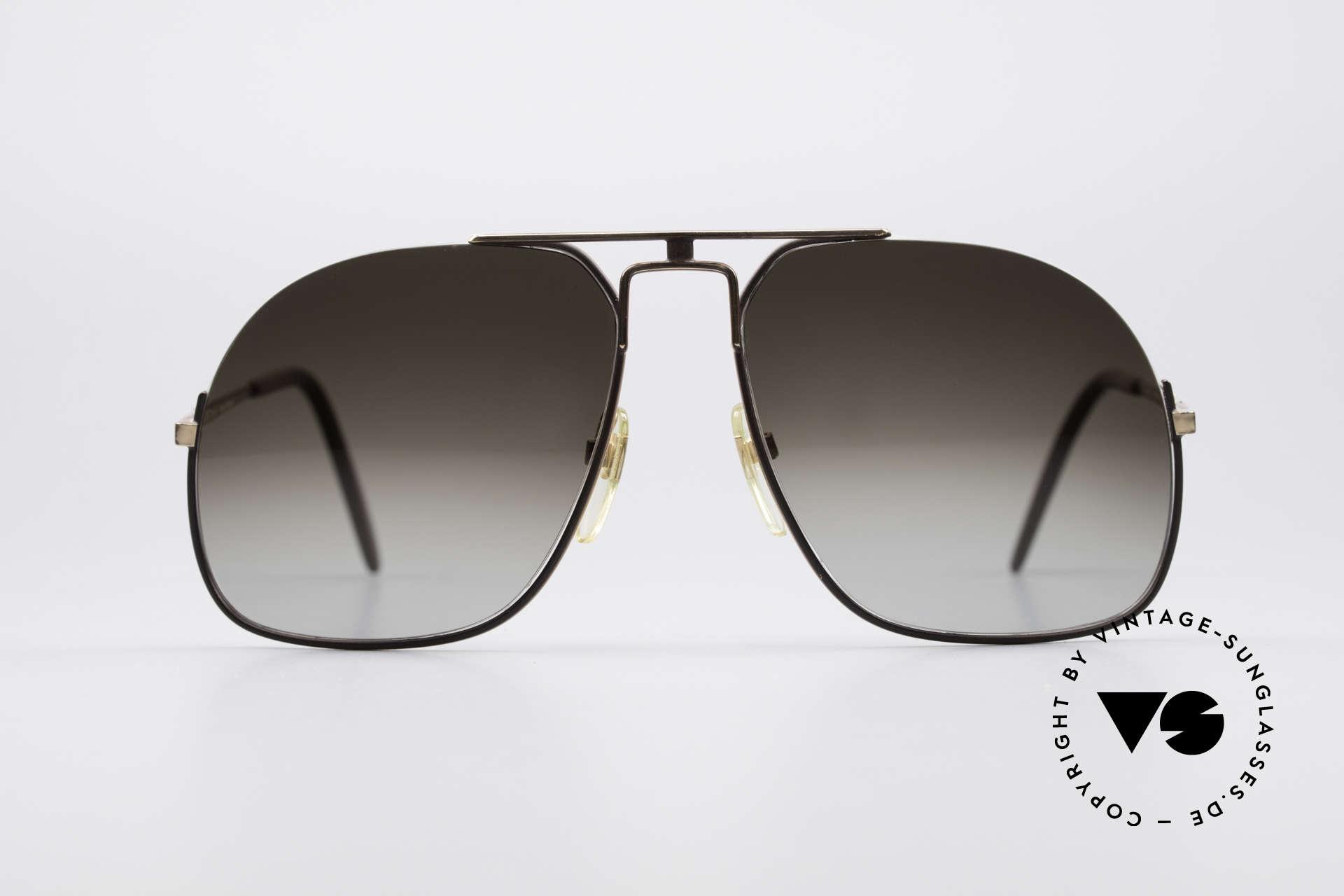 Neostyle Jet 16 Außergewöhnliche 80er Brille, modifizierte Pilotenform in dunkelgrau / gold, Passend für Herren