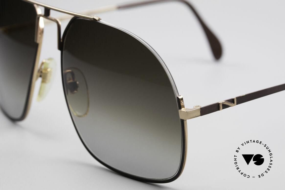 Neostyle Jet 16 Außergewöhnliche 80er Brille, braun-graue Verlaufsgläser für 100% UV Schutz, Passend für Herren