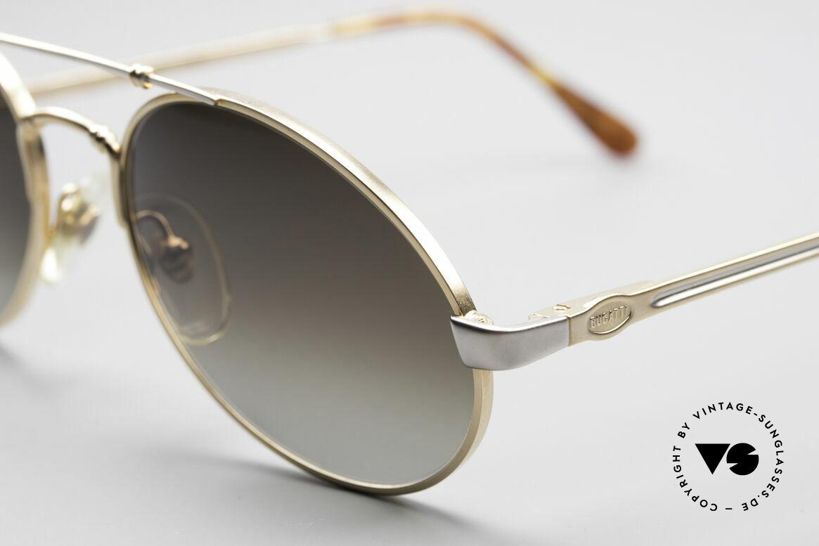 Bugatti 18503 90er Herren Sonnenbrille, beste Materialien in Top-Verarbeitung (Federgelenke), Passend für Herren