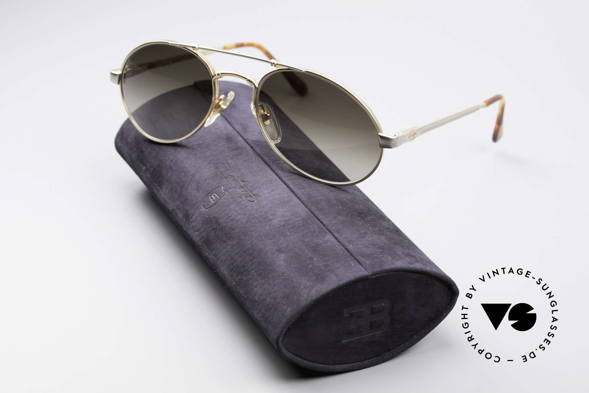 Bugatti 18503 90er Herren Sonnenbrille, KEINE Retromode, sondern ein kostbares altes Original, Passend für Herren
