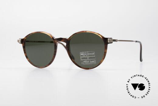 Giorgio Armani 358 Vintage Panto Sonnenbrille Details