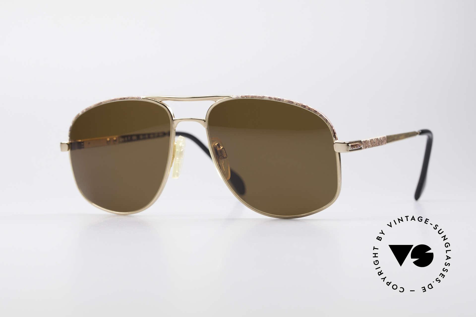 Zollitsch Cadre 8 18k Gold Plated Sonnenbrille, vintage GP Sonnenbrille von Zollitsch aus den 1980ern, Passend für Herren