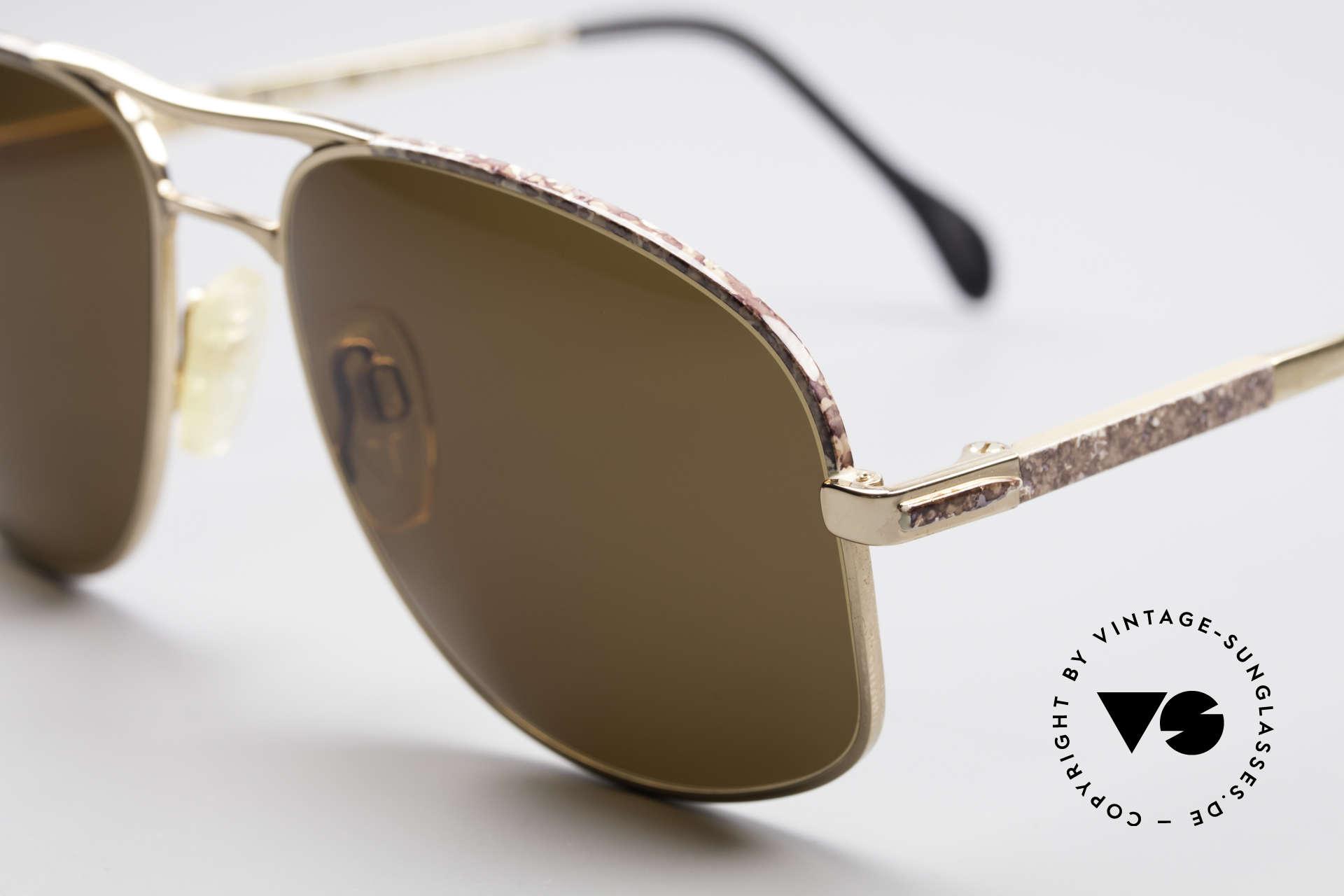 Zollitsch Cadre 8 18k Gold Plated Sonnenbrille, interessante Alternative zur gewöhnlichen Pilotenform, Passend für Herren