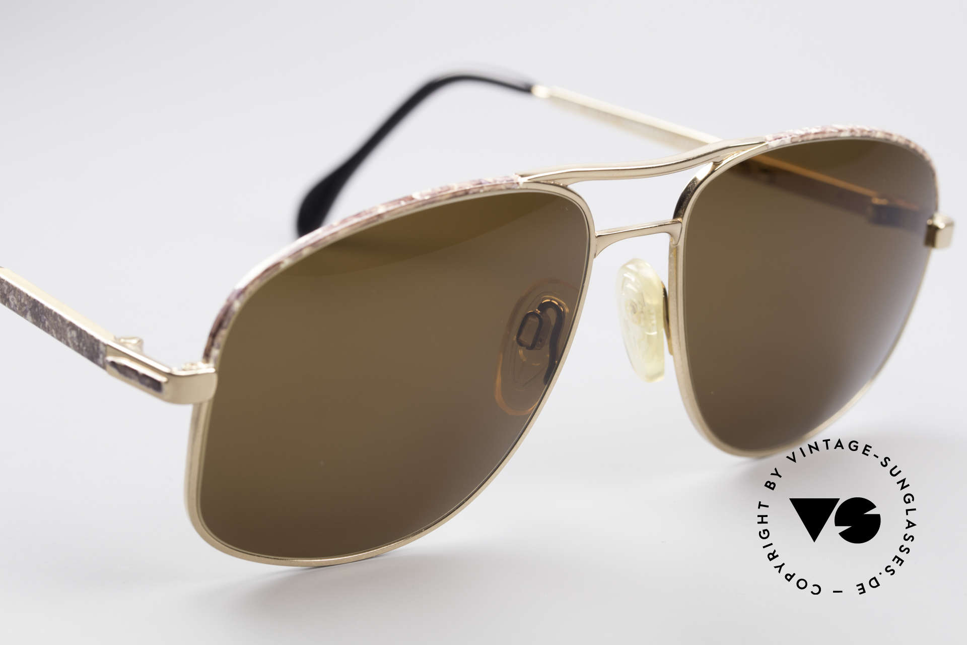 Zollitsch Cadre 8 18k Gold Plated Sonnenbrille, ungetragen (wie alle unsere vintage ZOLLITSCH Modelle), Passend für Herren