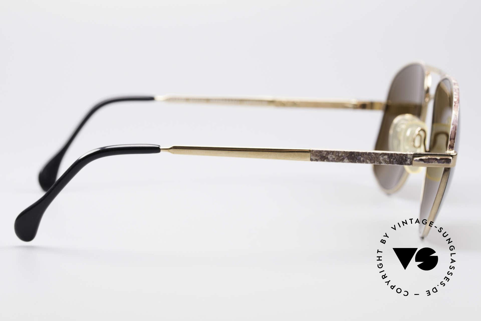 Zollitsch Cadre 8 18k Gold Plated Sonnenbrille, KEINE RETROmode; ein echtes, 30 Jahre altes ORIGINAL, Passend für Herren