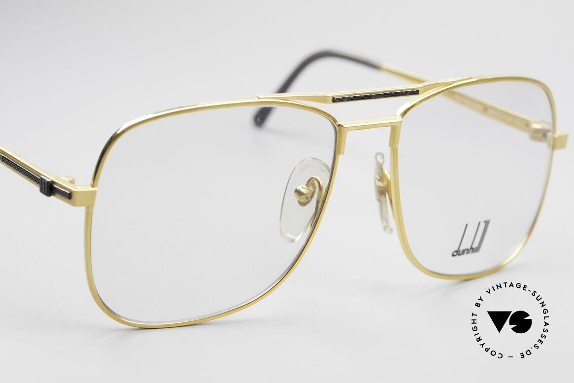 Dunhill 6038 Vergoldete 80er Titanium Brille, Fertigungskosten waren auch abhängig vom Goldpreis, Passend für Herren