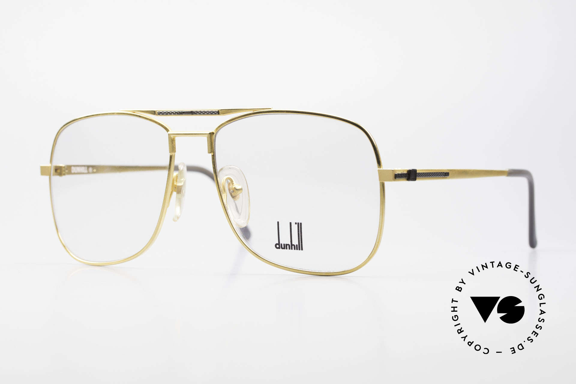Dunhill 6038 Vergoldete 80er Titanium Brille, edler & hochwertiger geht's nicht - muss man fühlen!, Passend für Herren